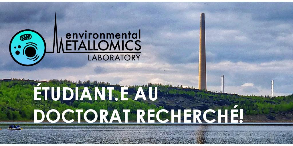 Offre de doctorat en écotoxicologie aquatique des métaux