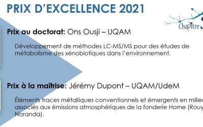 Gagnant(e)s du prix d'excellence 2021!