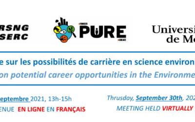 Table ronde sur les possibilités de carrière en sciences environnementales